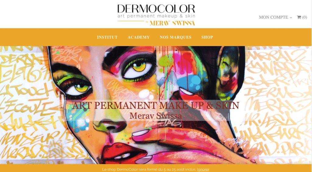 Page accueil Dermocolor