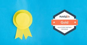 Badge gold Hubspot