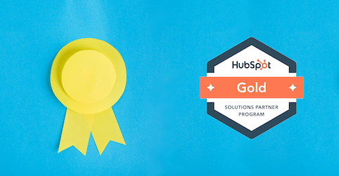 Badge gold Hubspot