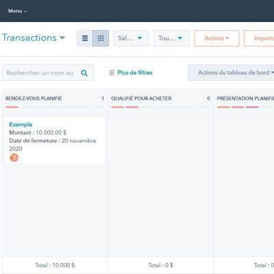 Transactions HubSpot 1